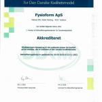 FYSIOFORM er hermed blevet akkrediteret efter version af akkrediteringsstandarder for fysioterapipraksis.